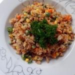 Sweet Corn and Pea Fried Rice