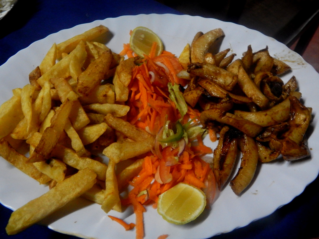 Calamari with fries