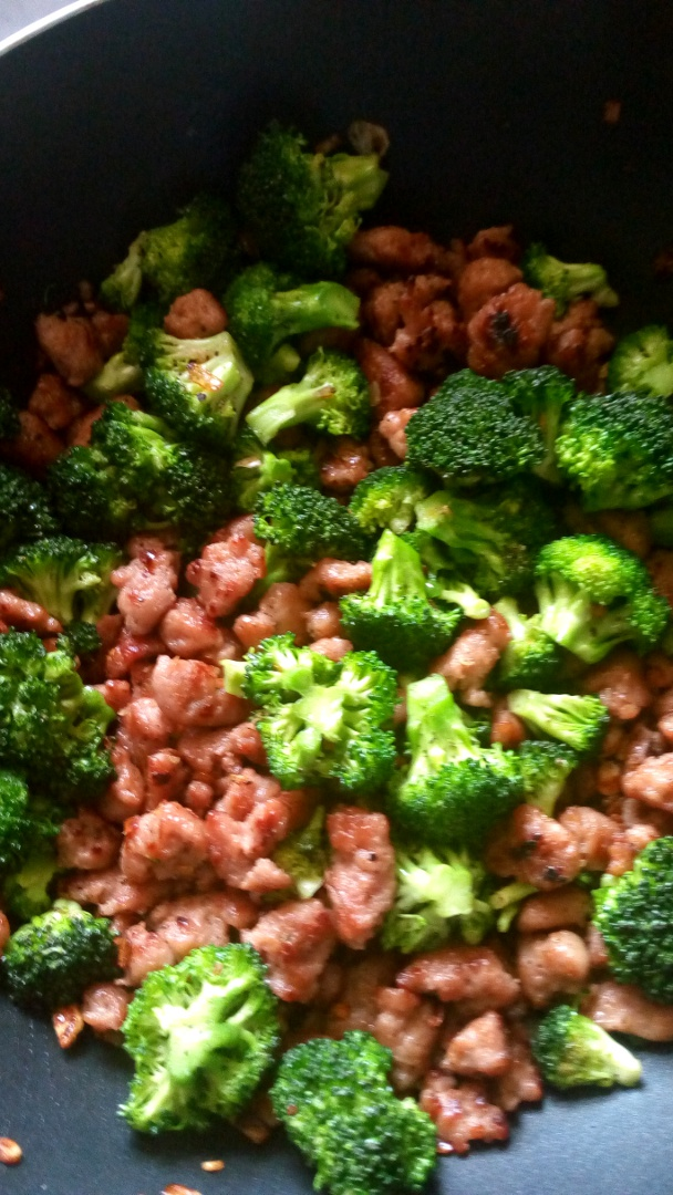 broccoli and sausage fried rice