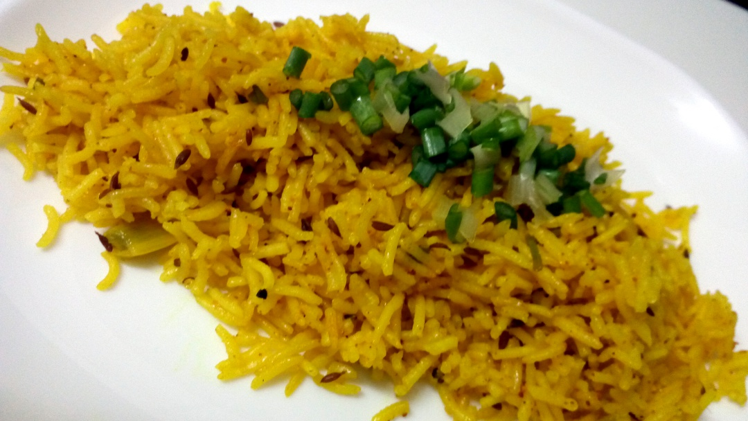 jeera and turmeric rice leotunapika